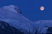 April 23, 2005 - Moonset, Vetter Peak, New Aiyansh, British Columbia, Canada.