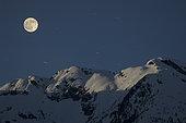 April 23, 2005 - Full Moon, Vetter Peak, New Aiyansh, British Columbia, Canada.