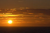 July 19, 2006 - Sunset at Gulf of St. Lawrence, North Boat Harbour, Newfoundland, Canada.
