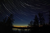 September 6, 2008 - Star Trails, Yellowknife, Northwest Territories, Canada.