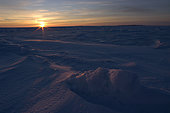 March 11, 2008 - Sunrise at Gulf of St. Lawrence, Iles de la Madeleine, Quebec, Canada.