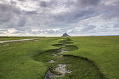 Mont Saint-Michel and its meanders, Manche, Normandy, France