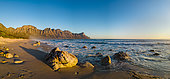 View of the Kogelberg Mountains from Kogelberg beach along Clarence Drive between Gordon's Bay and Rooi-Els. False Bay. Western Cape. South Africa