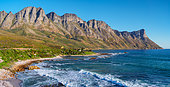 View of the Kogelberg Mountains along Clarence Drive between Gordon's Bay and Rooi-Els. False Bay. Western Cape. South Africa
