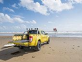 Beach surveillance in summer, Talmont St Hilaire, Vendée, Pays de Loire, France