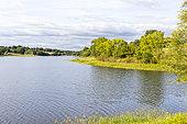 Lake Finfarine, Poiroux, Marais vendéen, Talmont St Hilaire, Vendée, Pays de Loire, France