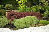 Japanese garden at Moulin de la Lande, Brittany, France