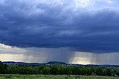 Stormy sky and rain curtains, Montbéliard, France