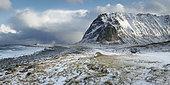 Eggum shoreline in winter, Lofoten, Norway
