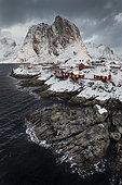 Hamnoy village in winter, Lofoten, Norway