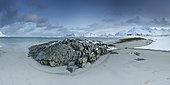 Ytresand beach in winter, Lofoten, Norway