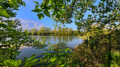 Landscape of the Great Loire in spring, Loire Valley, France