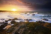 Sunset at the Pointe de la Guette, Côtes-d'Armor, Brittany, France