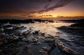 Sunset at the Pointe de Penvins, Morbihan, Brittany, France
