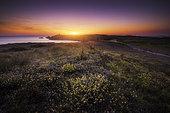 Sunset at Pointe du Percho, Côte sauvage de Quiberon, Brittany, France