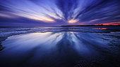 Twilight at the Bec d'Andaine, Mont-Saint-Michel Bay, Normandy, France