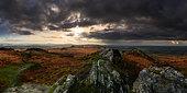 Roc'h Trevezel in autumn, Monts d'Arrée, Finistère, Brittany, France