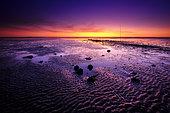 Sunset at the Passage du Gois, Noirmoutier, Vendée, France