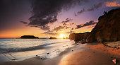 Sunset on the shore, Pénestin, Pays de Guérande, Brittany, France