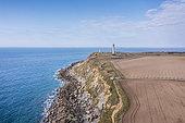 Cape Gris-nez and its lighthouse, Opal Coast, Pas-de-Calais, France