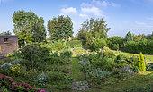 Le jardin du Pèlerin in summer, Audinghen, Pas-de-Calais, France