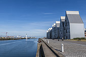 """Buildings of the eco-district """"le Grand Large"""", Dunkerque, Nord, Hauts de France, France"""
