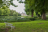 Chantilly Castle and its English garden, Domaine de Chantilly, Chantilly, Oise, France.