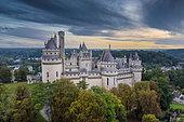 Castle Pierrefonds in autumn, Oise, Picardie, France