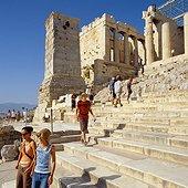 Acropolis entrance gate. Grèce, Grèce Centrale et Eubée, Athènes, Attique, SIM711690