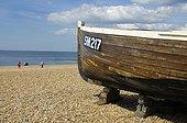 UK/England, Brighton. Brighton, boat on beach