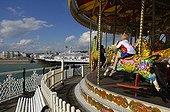 UK/England, Brighton. Brighton, carousel