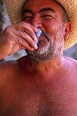 Montenegro. Man drinking