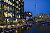 United Kingdom London Regent's Canal Paddington Basin  - New development on the Regent's Canal, near railway station.