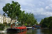 United Kingdom London Regent's Canal Canal and houseboats at Little Venice.
