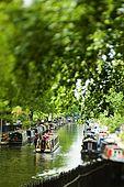 United Kingdom London Regent's Canal Houseboats along the Maida Avenue.