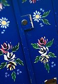 United Kingdom London Regent's Canal Detail of a houseboat's door at Lisson Grove.