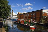 United Kingdom London Regent's Canal Houseboat on the canal along the Eagle Wharf Road.