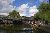 United Kingdom London Regent's Canal The footbridge at Camden.
