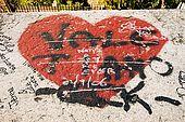 Graffiti on the walls of Verona, Veneto, Italy
