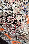Love messages left at the entrance to Juliet's House, Verona, Veneto, Italy