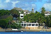 Kenya, Lamu archipelago Shela, sul mare l'hotel Pepponi