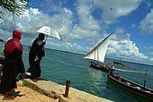 Kenya, Lamu archipelago Shela, imbarcadero