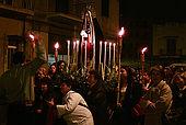 italy-sicily-palermo-settimana santa, processione quartiere NOCE-via Perpignano