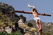 italy-sicily-palermo-settimana santa, quartiere Partanna/Mondello-la crocifissione