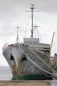 Galeb, Tito's old luxury yacht, now in a state of decay at a shipyard in Rijeka, Croatia