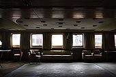 The lounge area which once played host to Hollywood stars and world leaders, Galeb, Tito's old luxury yacht, Rijeka, Croatia