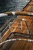 The decks of Galeb, Tito's old luxury yacht, Rijeka, Croatia