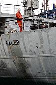 Captain Zeljko Matejcic on Galeb, Tito's old luxury yacht, Rijeka, Croatia