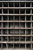 Detail of pigeon holes on Galeb, Tito's old luxury yacht, Rijeka, Croatia