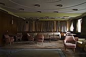 The lounge bar has been damaged by water leaking from the ceiling. Galeb, Tito's old luxury yacht, Rijeka, Croatia